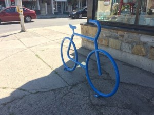 Bicycle parking in the shape of a bicycle